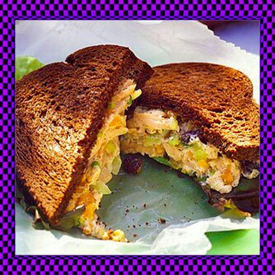 Cashew Chicken Salad Sandwich