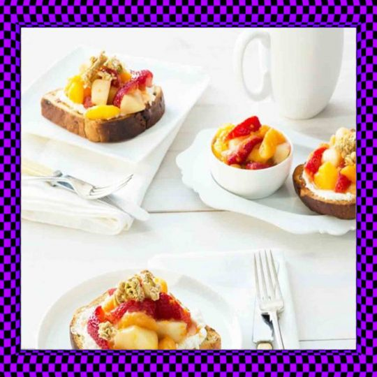 Toast and Fruit Cup