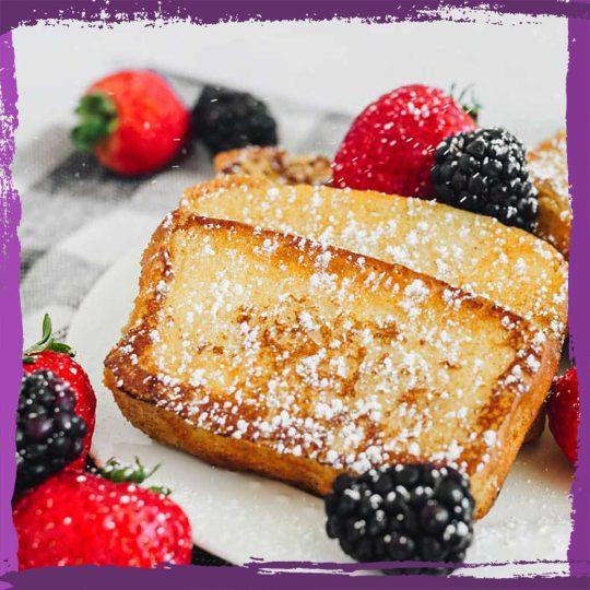 Lemon Pound Cake French Toast