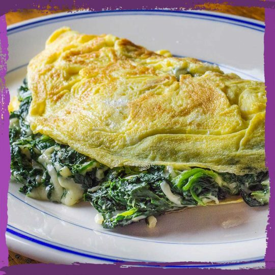 Spinach and Swiss Omelet